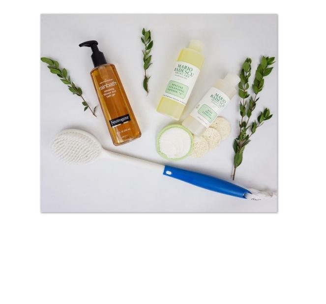 "Neutrogena refreshing shower & bath gel, Mario Badescu Acne Facial Cleanser & Cleansing Lotion ""C"" (toner)"